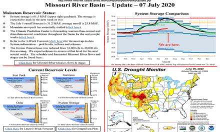 Corps reducing Missouri River runoff from Gavins Point Dam