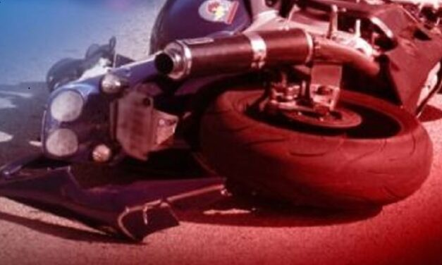 Motorcycle driver air-lifted to hospital after wreck