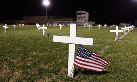 Norborne Schools honor veterans with mini Arlington display