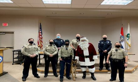 Platte County Sheriff's Office and Weatherby Lake Police Department make the holidays brighter for needy families