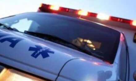 Bethany driver hospitalized after vehicle slide-off