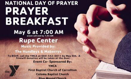 Carroll County Area YMCA hosts National Day of Prayer Breakfast
