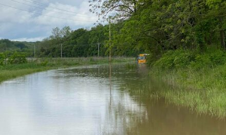 Bus driver heads into flooded waters, local sheriff urges common sense