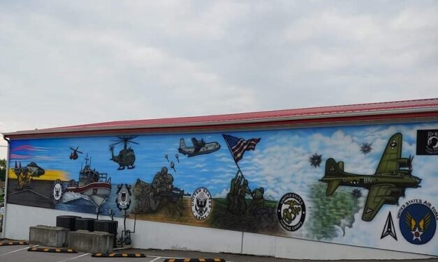 After years of planning, Lawson VFW Post 6278 military mural is complete