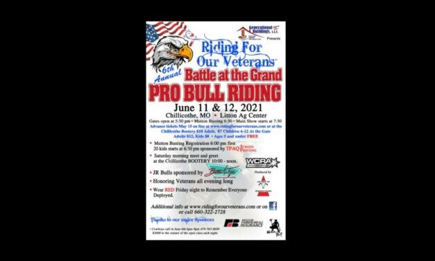 Riding For Our Veterans presents Battle at the Grand Professional Bull Riding event in Chillicothe