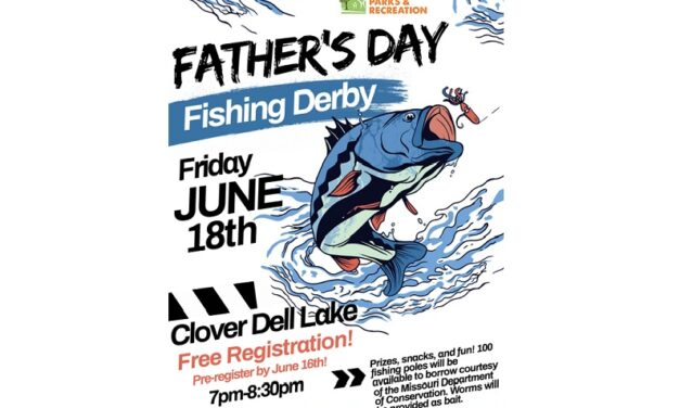 Dads and kids can enjoy some casting and reeling at Sedalia Parks and Recreation's free Father's Day Fishing Derby