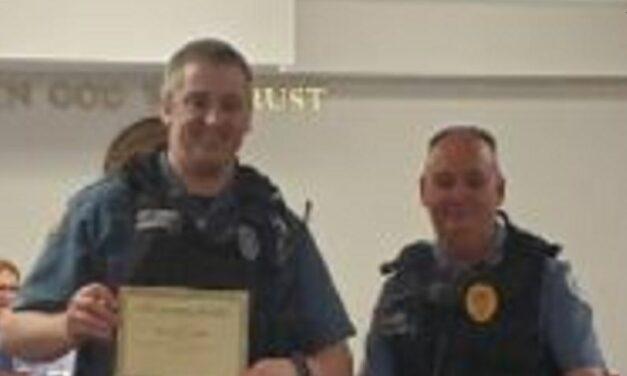 Lexington officer recognized for taking life-saving measures