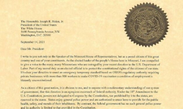 Missouri House drafts letter saying vaccine mandate unconstitutional